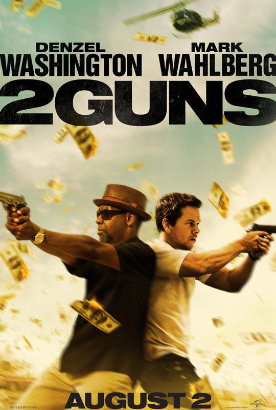 2 GUns poster Washington Wahlberg