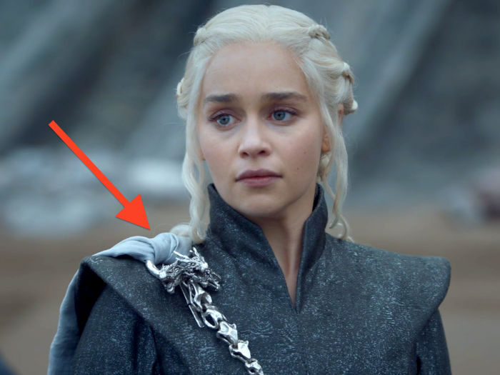 daenerys costume this episode could be a nod towards her softening stance on jon snow w700