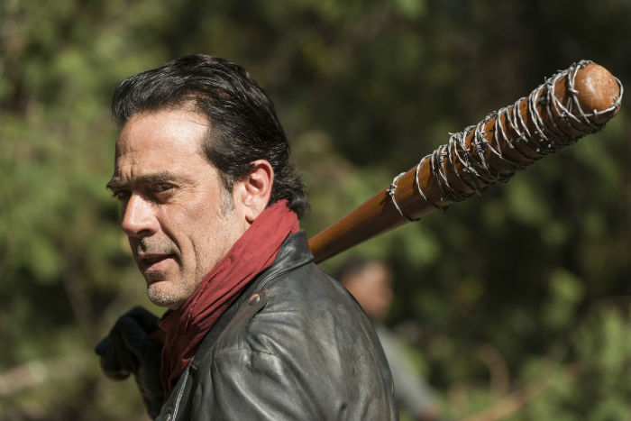 negan is wearing his signature red scarf which probably means we can expect to see some more bloodshed w700